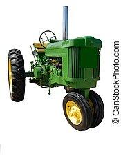traktorer, kärlek, gammal, grön, de där