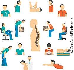 traktowanie, choroby, kręgosłup, diagnoza