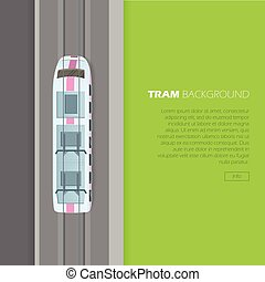 Tram Background Conceptual Flat Vector Web Banner