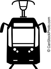 Tram, front view, shade picture