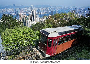 tram`, hong, `peak, kong