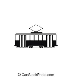 Tram icon in simple style