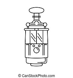 Tram icon, outline style