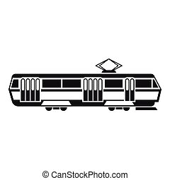 Tram icon, simple style