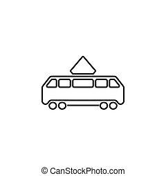 Tram icon. vector illustration black on white background