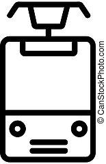 tram icon vector. Isolated contour symbol illustration