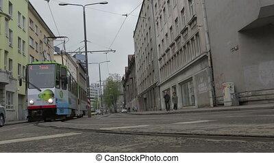 tram in central street