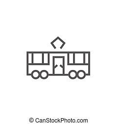Tram line icon.