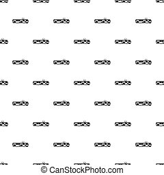 Tram pattern, simple style