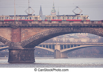 tram, praag
