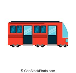 tram public transport icon vector illustration design