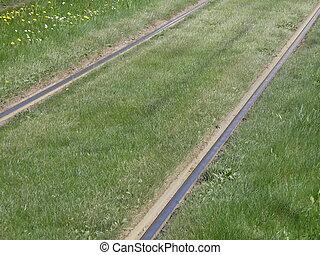 Tram railway track