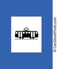 tram station traffic sign