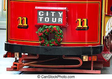 tram, système, christchurch, -, zélande, tramway, nouveau