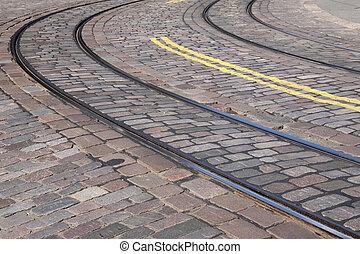 Tram Tracks in Helsinki