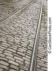 Tram Tracks, Riga, Latvia