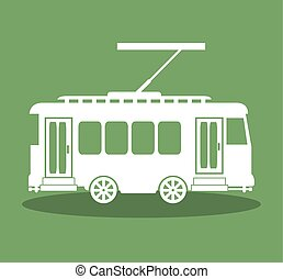 tram transport public icon