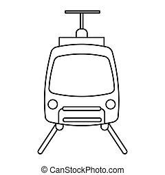 tram travel public transport urban outline