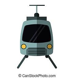 tram travel public transport urban with shadow