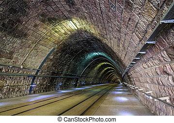 Tram tunnel in Bratislava - Slovakia