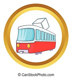 Tram vector icon