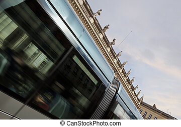 tram, ville, bordeaux