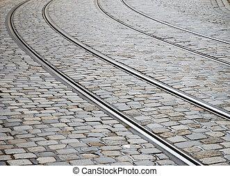 tram, voetspooren