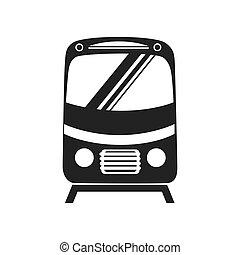 tramcar train subway icon vector graphic - tram car train ...