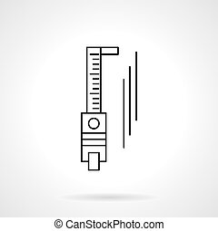 Trammel flat line vector icon - Abstract sign of sliding...