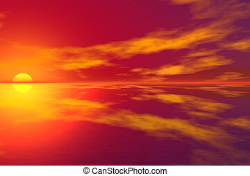 tramonto, 3d