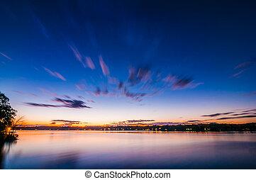 tramonto, a, lago, wylie