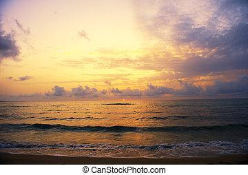 tramonto, colorato