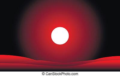 tramonto, deserto