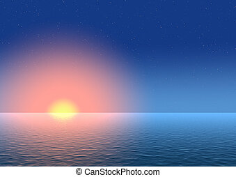 tramonto, fondo