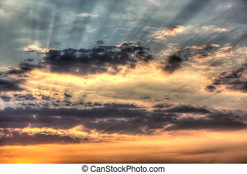tramonto hdr