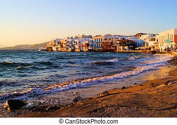 tramonto,  Mykonos