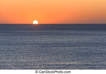 tramonto, o, alba, sopra, mare mediterraneo