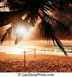 tramonto, paradiso
