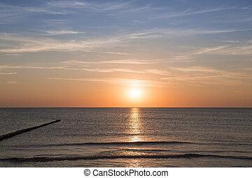 tramonto, Sfondi, paesaggio, oceano