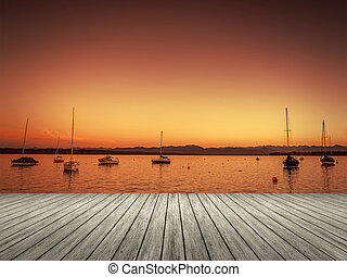 tramonto, tutzing