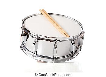 trampa, conjunto, palillos del tambor
