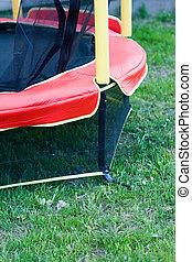 trampolin, med, säkerhet netto