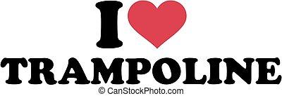 trampolina, miłość