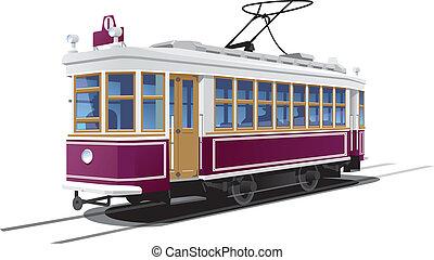 illustration tram. (Simple gradients only - no gradient mesh.)