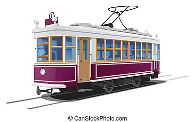 tramway - illustration tram.