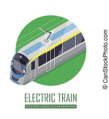 Tramway Vector Icon in Isometric Projection