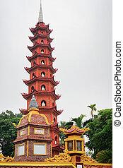 Tran Quoc Pagoda at Hanoi Vietnam