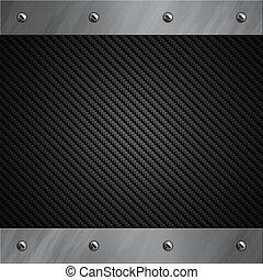 trancado, fibra, alumínio, quadro, fundo, carbono, escovado