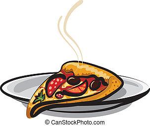 tranche pizza