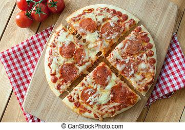 tranches, pizza pepperoni